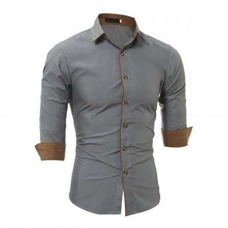 Chemise - Amedeo - Grey / Beige - AEDS027