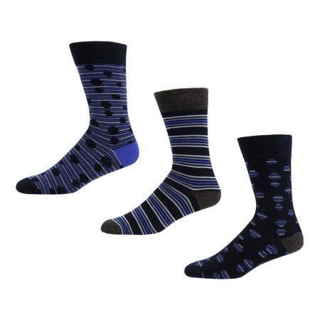 Ben Sherman MR MULLIGAN - Chaussettes x3 Homme navy stripe/navy