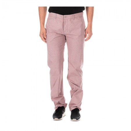 Pantalon - Rouge-Fines À Carreaux Noir