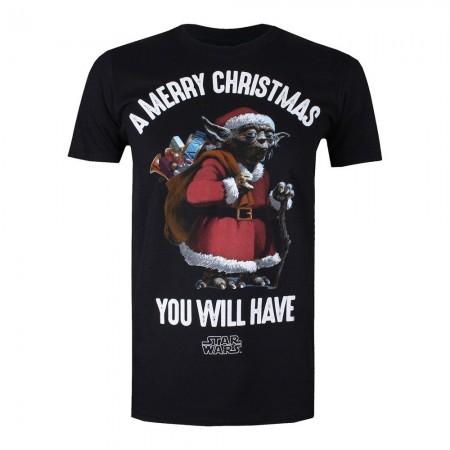 T-shirt - Star Wars - Yoda Santa - Black - FBMTS210BLK