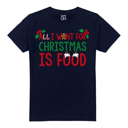 T-shirt - Game On - All I Want For Xmas - Navy - GOMTS051NVY