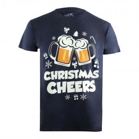 T-shirt - Game On - Christmas Cheers - Navy - GOMTS045NVY