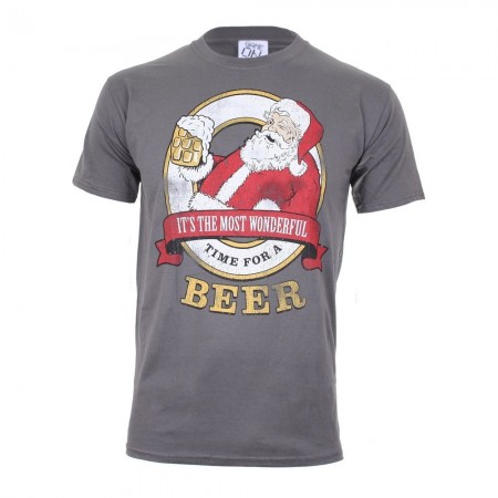 T-shirt - Game On - Time For A Beer - Charcoal - GOMTS027CHA