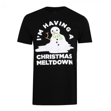 T-shirt - Game On - Meltdown - Black  - GOMTS094BLK