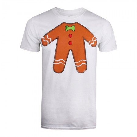T-shirt - Game On - Gingerbread Man - White - GOMTS072WHT