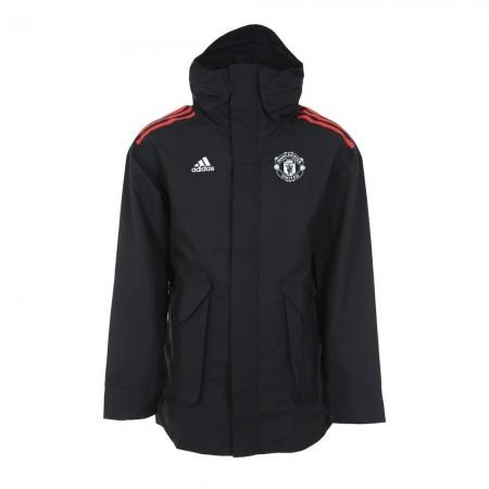 Adidas MANCHESTER UNITED EU 17/18 - Veste Homme black/red