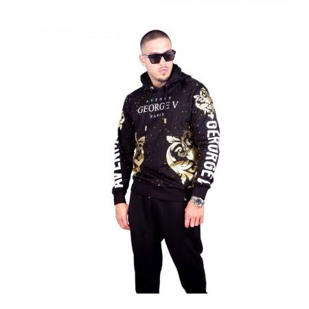 Sweatshirt - Avenue George V - GV1025 - Black-Gold