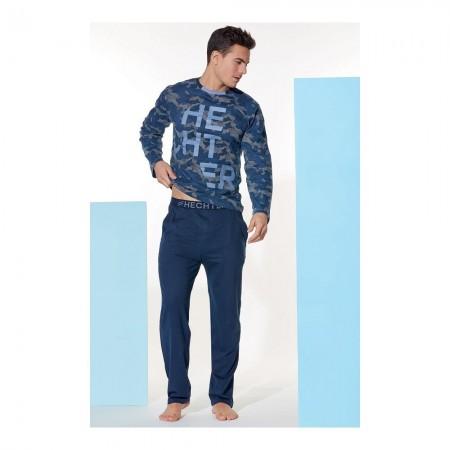 Pyjama Long Manches Longues - Marine - HH.FUSIO.PY