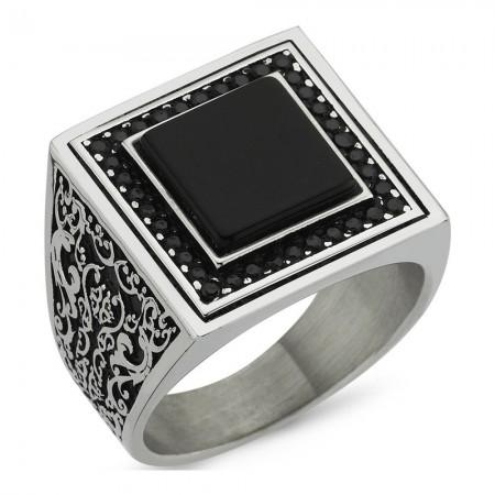 Bague - Black Silver - Argent - BLK-Y134
