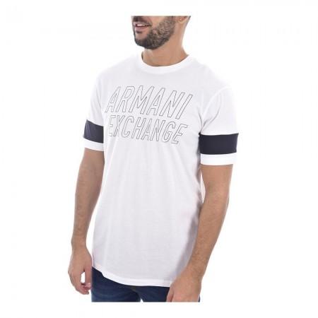 Tee Shirt ARMANI EXCHANGE Coton Logo - Blanc - 6gztbw zjh4z