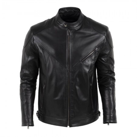 Veste en cuir - Noir - AMAZON