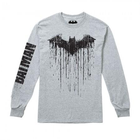 T-Shirt Manches Longues - Homme - Batman Paint - Grey Marl
