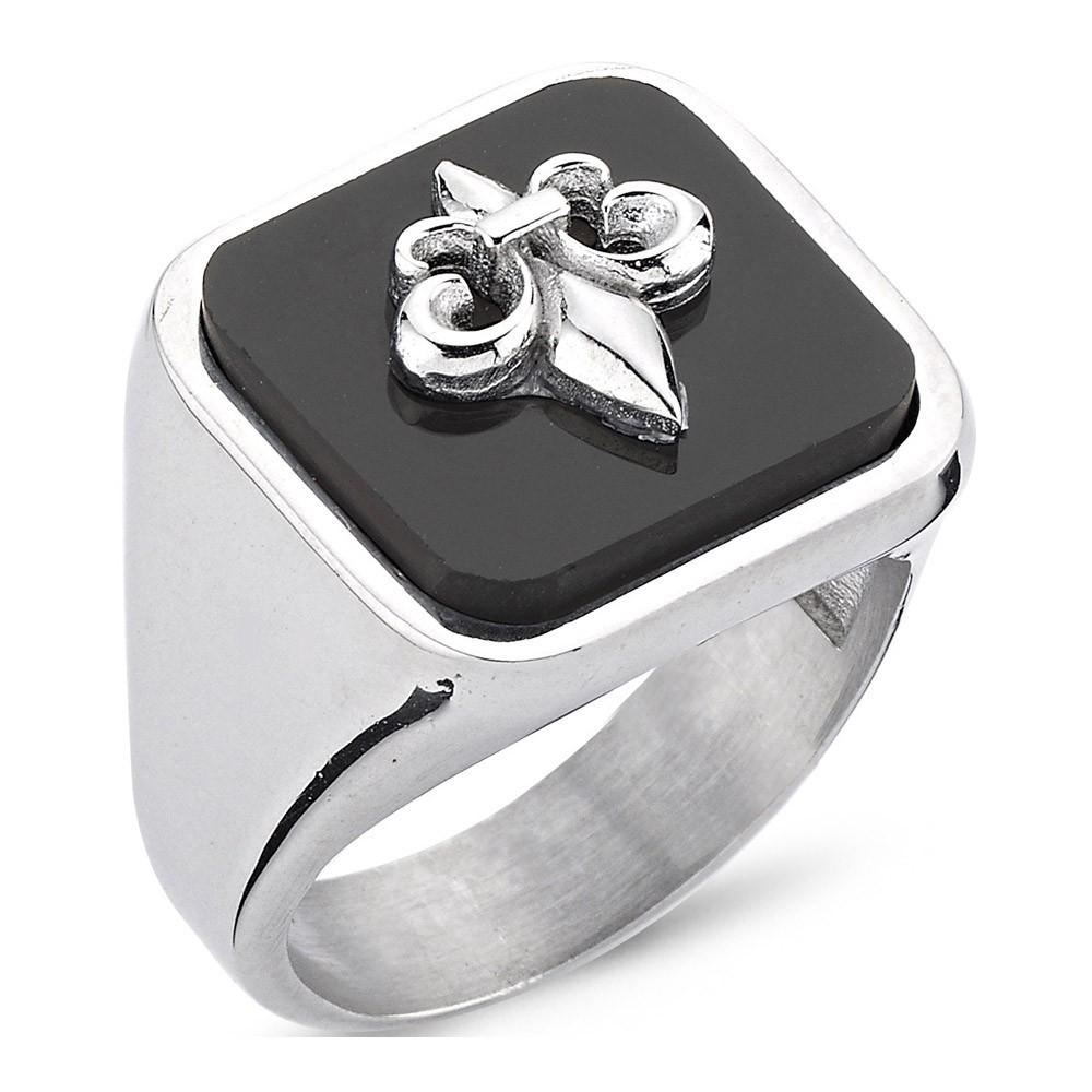 Bague - Black Silver - Argent - BLK-Y114