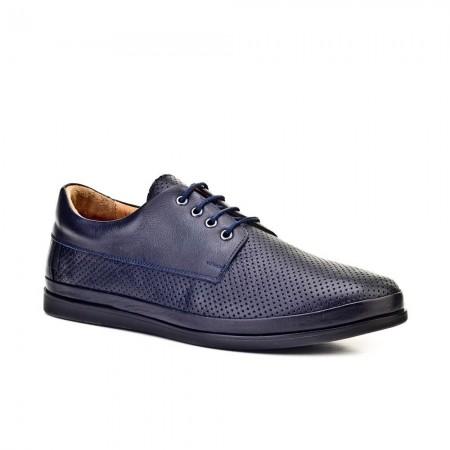 Chaussures Casual Derbies Cuir - Navy - 8YED08AY001U54