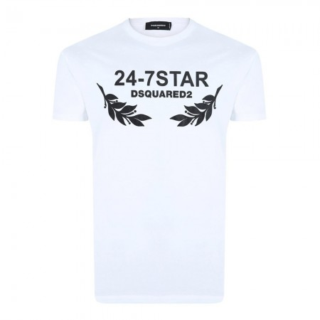Tee shirt coton Dsquared2 Blanc - Ds9575108