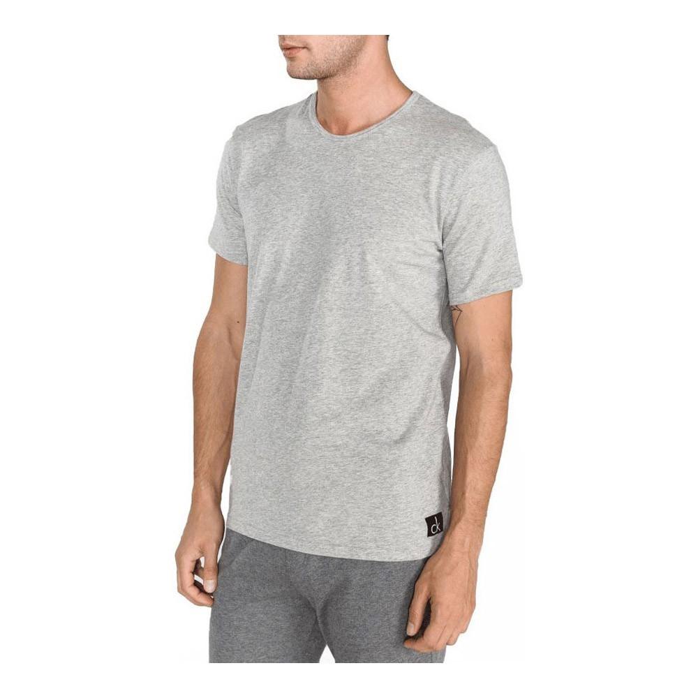 Tee Shirt Basique Stretch  - CALVIN KLEIN - Grey Heather - 000NB1164E-080