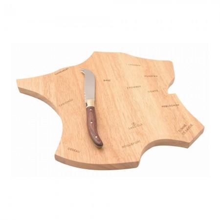 Plateau en bois d'hévéa pour le fromage