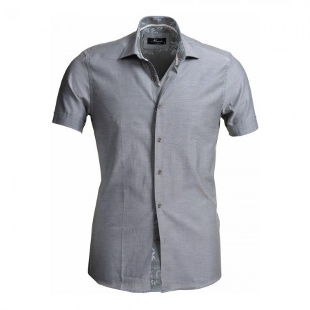 Chemise manches courtes - Grey - Amedeo - AESS7907