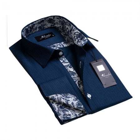 Chemise - Amedeo - Navy Blue Floral - AEFC8588