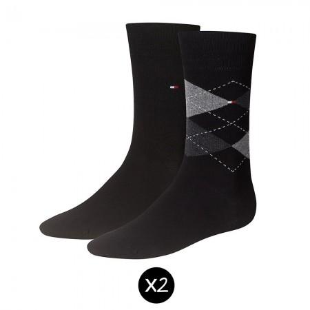 Lot de 2 paires de chaussettes homme CHECK black