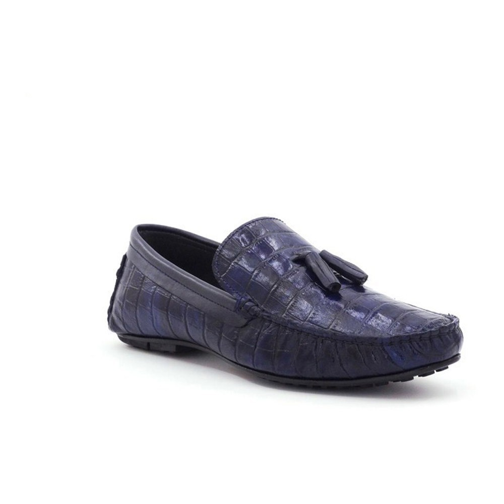 Loafers - Step By Step - Navy Blue Croco - 024E9264