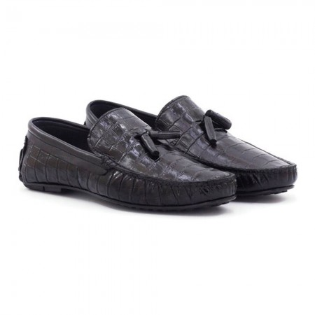 Loafers - Step By Step - Black Croco - 024E9264