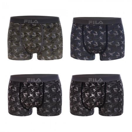 Lot De 4 Boxers Coton Homme Fu5028 - FI/1BCX4/FU5028