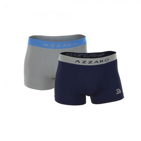 Boxer x 2 - AZZARO - Blue / Grey - A2150-81/02