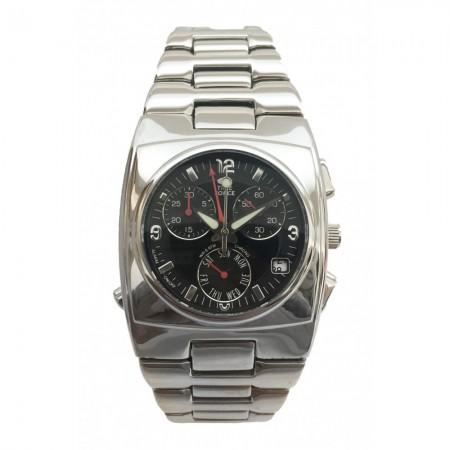 Montre - TIME FORCE - Silver/Black - Bracelet Acier Silver - TF1448B-01M