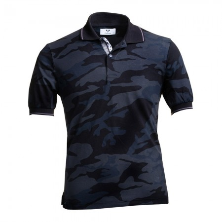 Polo - Black & Grey Camaflouge - CEMP0171