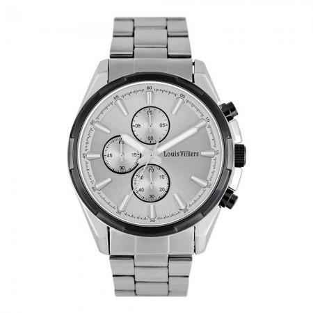 Montre analogique - Silver + Black/Silver - Bracelet acier inoxydable Silver - LVS19MW001M