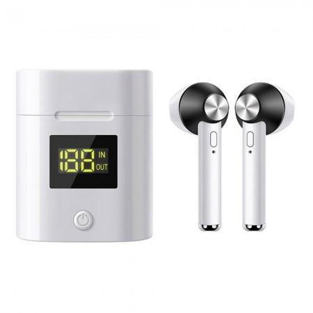 Ecouteurs sans fil Bluetooth 5.0 iSteel avec affichage LED - Noir - TTE439