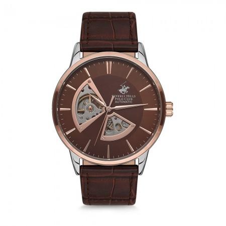 Montre Quartz - Silver/Brown - Bracelet Cuir Véritable Brown - BBH9624-02