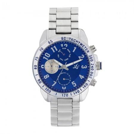 Montre analogique - Argent /Bleu - Bracelets en acier - LV1101