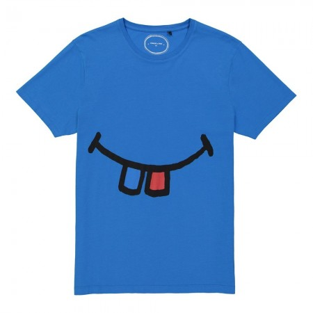 T-shirt - Dents - Bleu