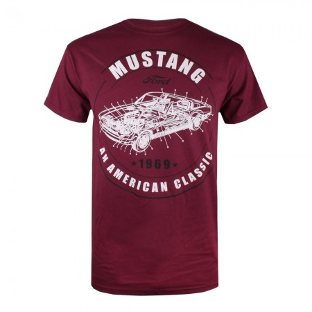 T-shirt - Mustang - American Classic - Maroon - POMTS067MAR