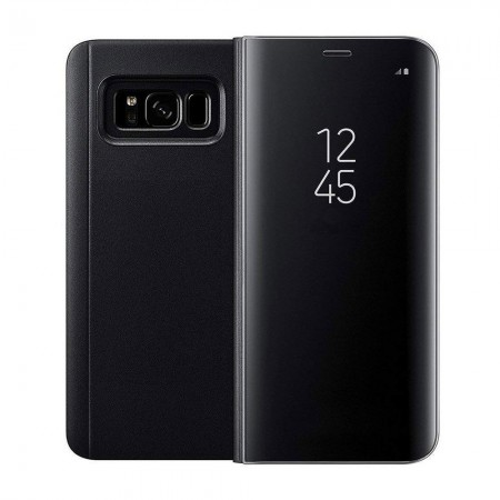 Etui folio Noir Easy View pour Samsung Galaxy S8 Plus