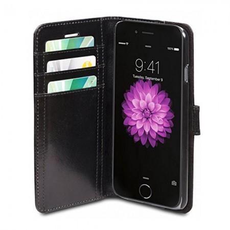 Protection pour Apple iPhone 6s Plus - Cuir - Black