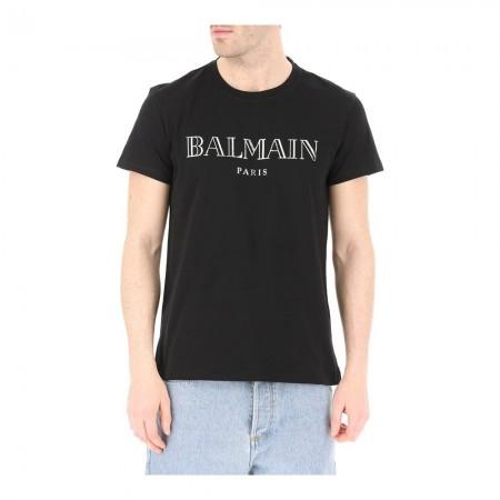 T-shirt - BALMAIN - Noir / Argent - RH11601