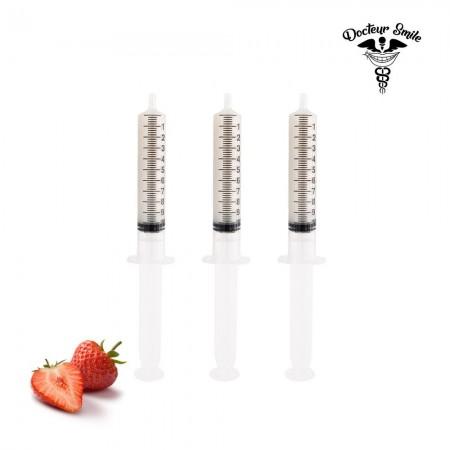 Recharge de 3 seringues de gel blanchissant goût fraise