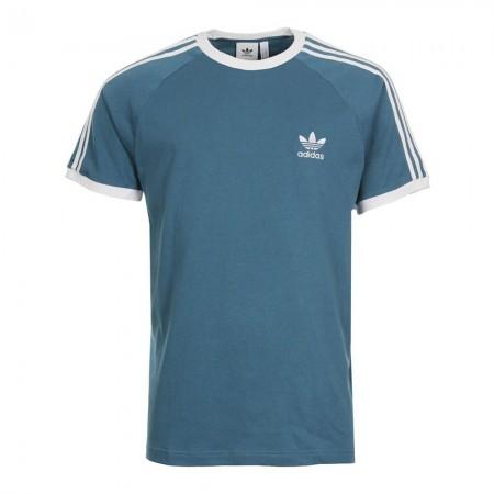 Adidas ORIGINAL TREFLE - Tee-shirt Homme light blue/white