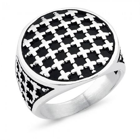 Bague - Black Silver - Silver - BLK-Y124