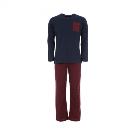 Ensemble Nuit/Homewear Azzaro - Bordeaux - A6030-36