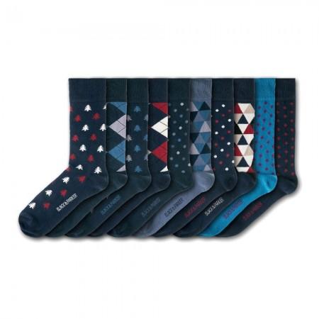 Lot de 10 paires de chaussettes - Black & Parker - Westonbirt Arboretum - BPA186