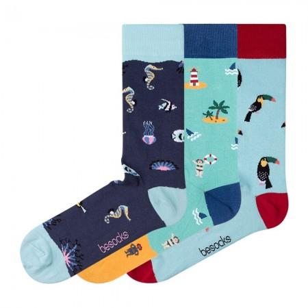 Lot de 3 paires de chaussettes - Azul  - Azul Marino  - Verde agua  - PACK42