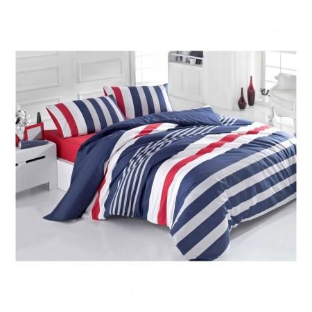 Housse de couette 140x200 + 1 Taie d'oreiller 60x60 - Dark Blue/Grey/White/Red - 121VCT32287