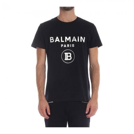T-shirt - BALMAIN - 0Pa Noir Silver - SH01601