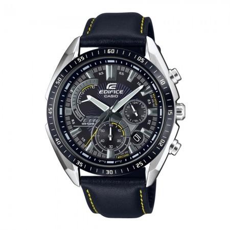 Montre CASIO - Edifice - Quartz - Metallic/Black - Bracelet Cuir Black - EFR-570BL-1AVUEF