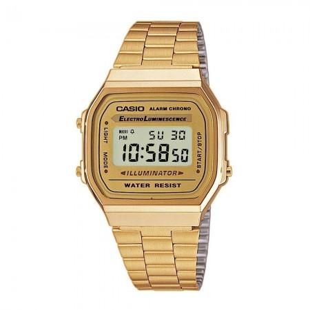 Montre digitale A168WG-9E or jaune/or jaune