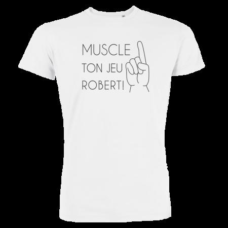 T-shirt manches courtes MUSCLE TON JEU Couleur au choix - 100% coton bio